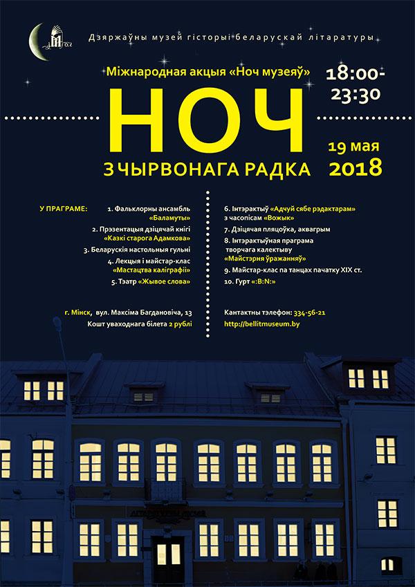 Музей истории белорусской литературы, 2018